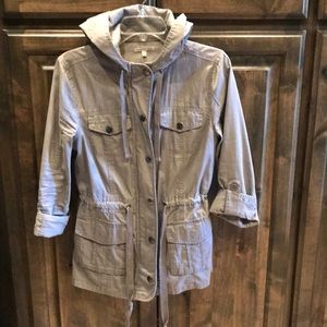 Charlotte Russe Gray Hooded Jacket M $49!